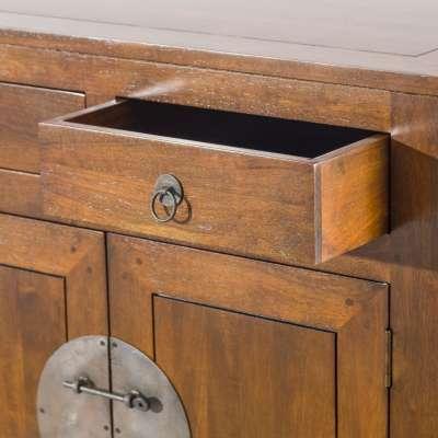 Komoda Ibuku 4drzwi + 4 szuflady, brown 174x50x90cm