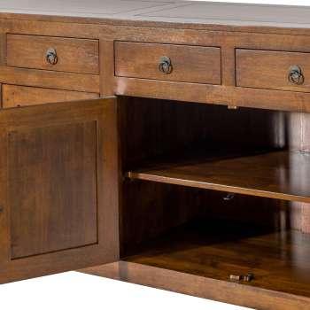 Komoda Ibuku 4drzwi + 4 szuflady, brown 174x50x90cm  174x50x90cm