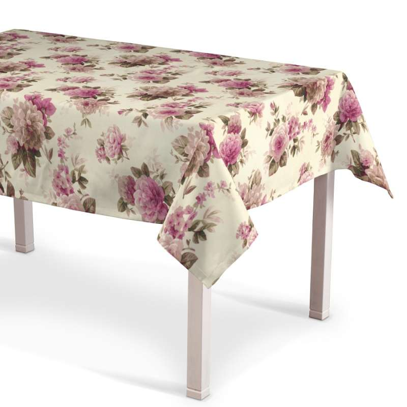 Rektangulär bordsduk i kollektionen Londres, Tyg: 141-07