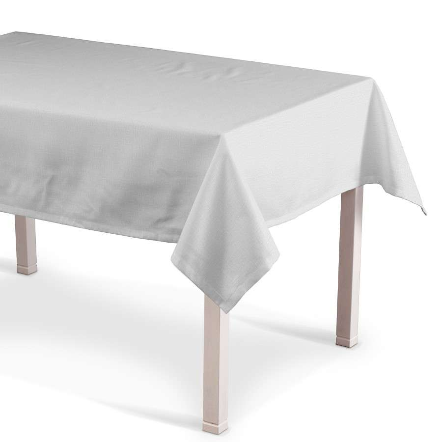 Rechteckige Tischdecke, elfenbein , 130 × 160 cm, Leinen | Heimtextilien > Tischdecken und Co > Tischdecken | Muster | Stoff | Dekoria