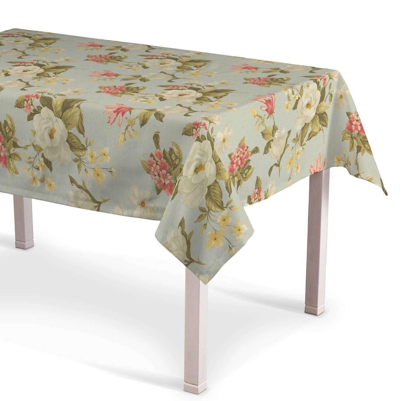 Rechteckige Tischdecke, helllblau, 130 × 160 cm, Londres | Heimtextilien > Tischdecken und Co > Tischdecken | Muster | Stoff | Dekoria