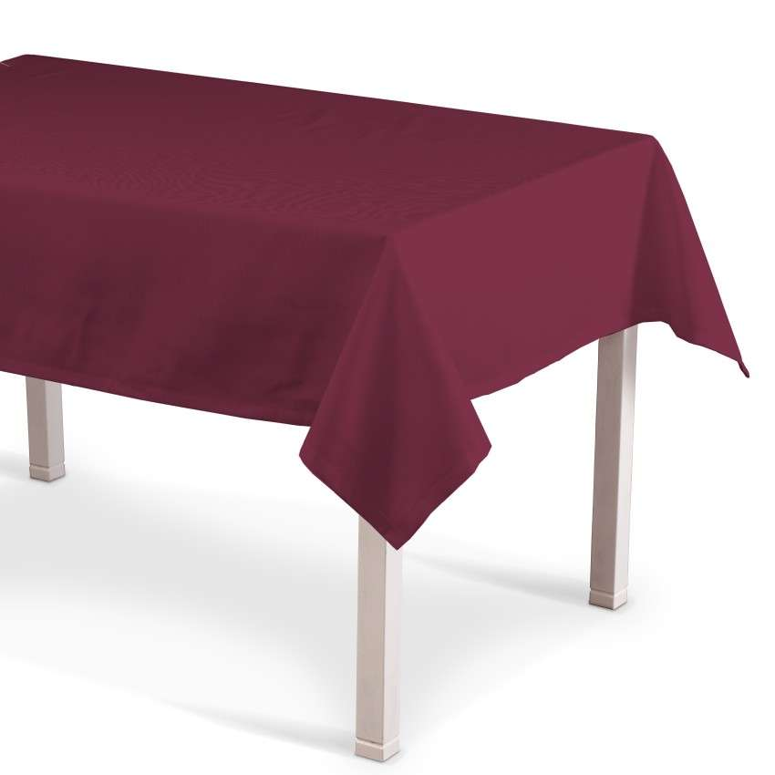 Rechteckige Tischdecke 130 x 130 cm von der Kollektion Cotton Panama, Stoff: 702-32