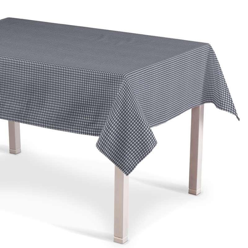 Rektangulær bordduk fra kolleksjonen Quadro, Stoffets bredde: 136-00