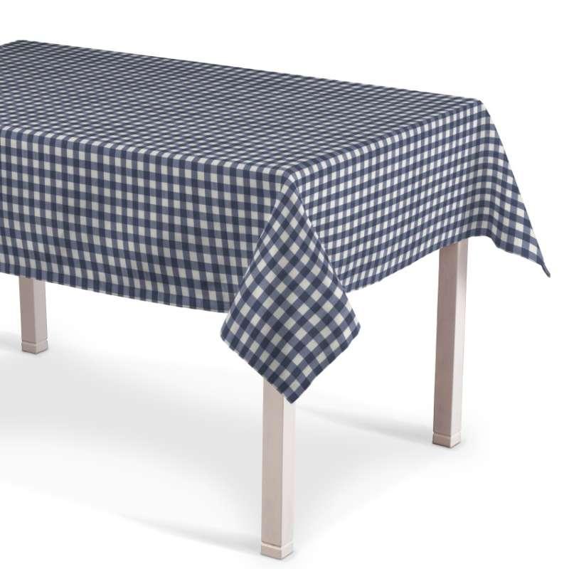 Rechteckige Tischdecke von der Kollektion Quadro, Stoff: 136-01