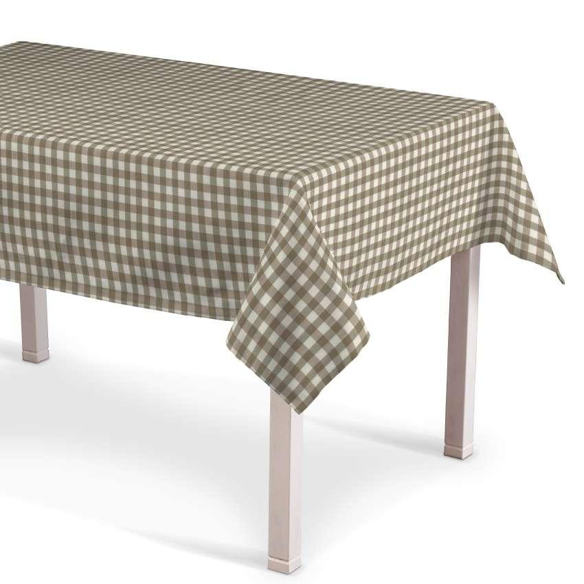 Rektangulær bordduk fra kolleksjonen Quadro, Stoffets bredde: 136-06