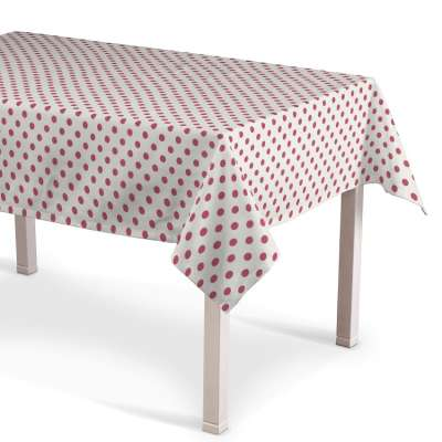 Rectangular tablecloth 137-70 red spots on white background Collection Little World
