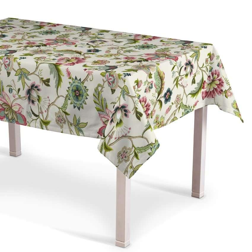 Rektangulær bordduk fra kolleksjonen Londres , Stoffets bredde: 122-00