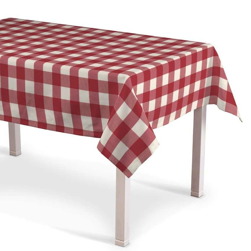 rechteckige tischdecke weiss rot kariert 130 x 130 cm. Black Bedroom Furniture Sets. Home Design Ideas