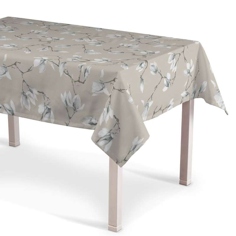 Rectangular tablecloth in collection Flowers, fabric: 311-12