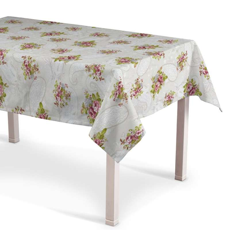 Obrus na stôl obdĺžnikový V kolekcii Flowers, tkanina: 311-15