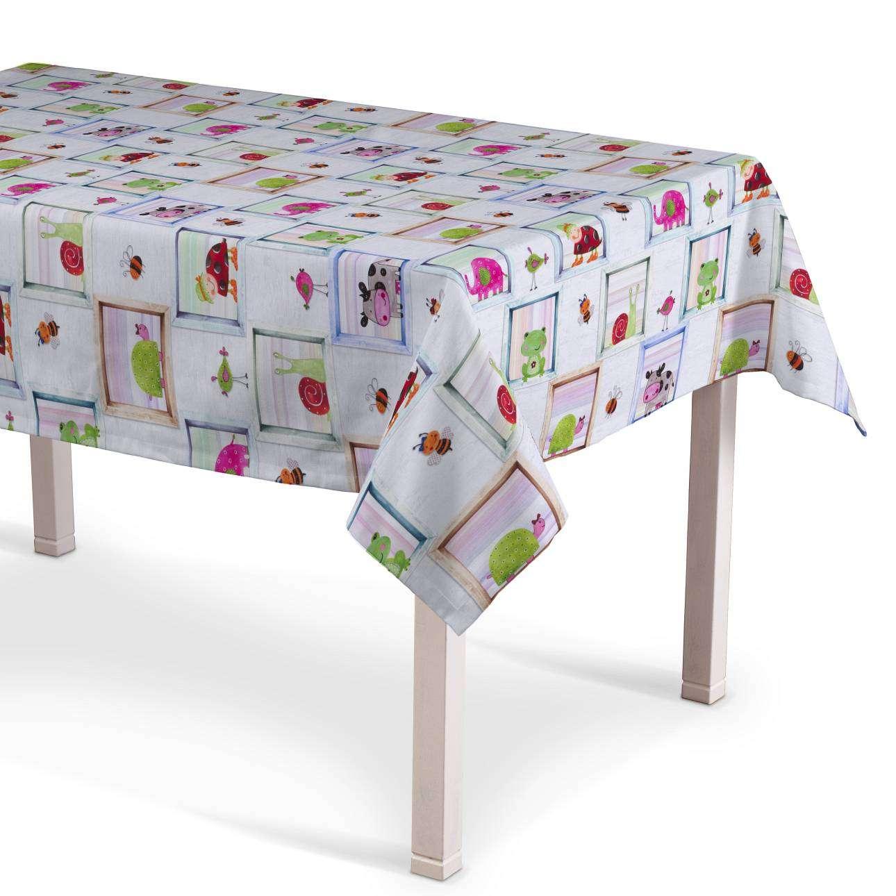Obrus na stôl obdĺžnikový 130 x 130 cm V kolekcii Apanona, tkanina: 151-04