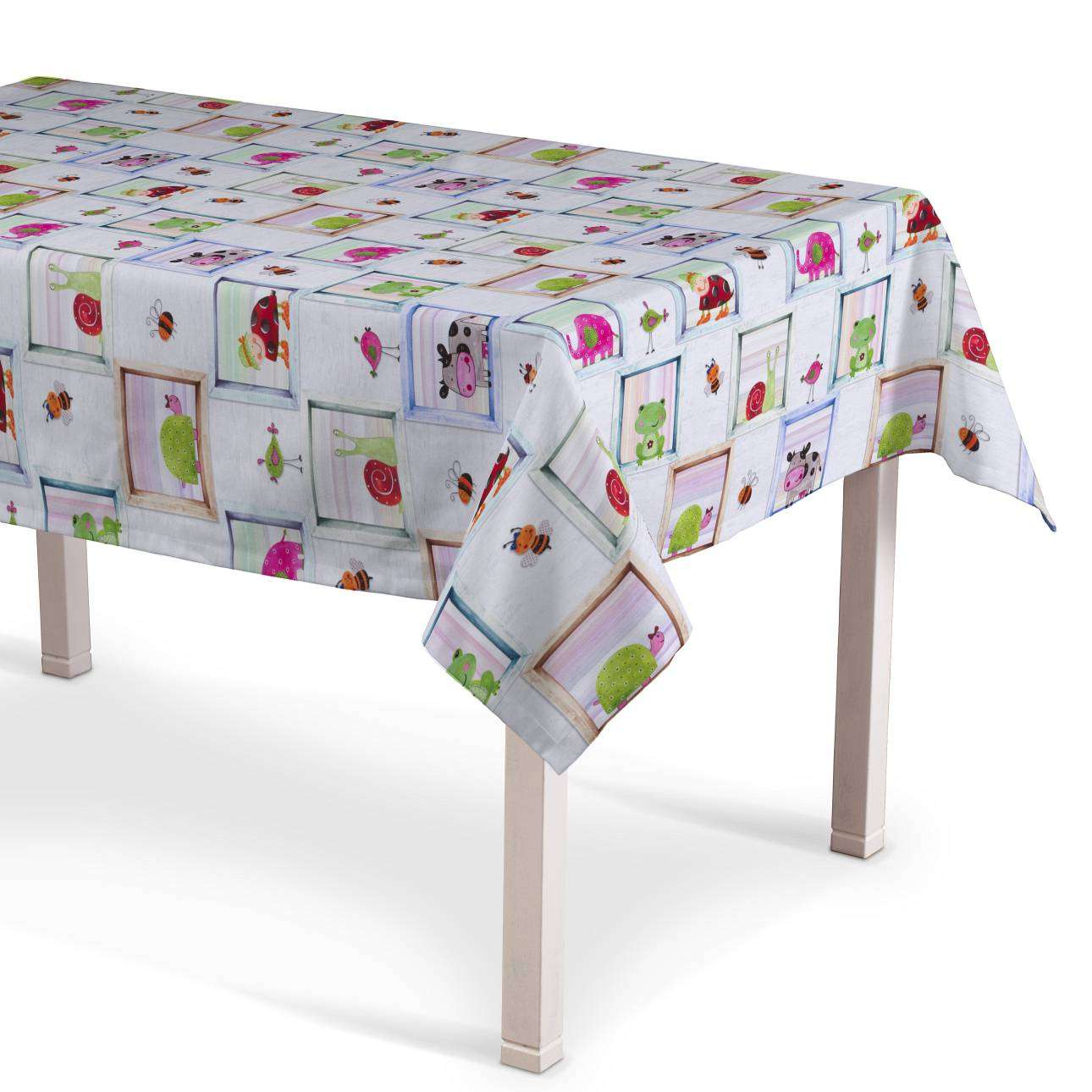 Rektangulär bordsduk  130 x 130 cm i kollektionen Apanona , Tyg: 151-04
