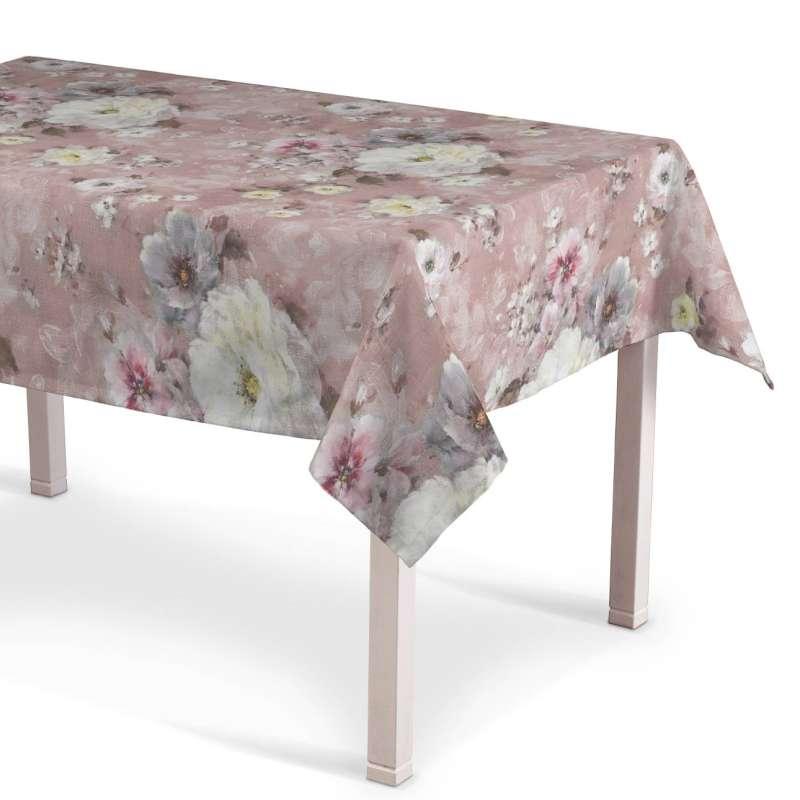 Rechthoekig tafelkleed van de collectie Flowers, Stof: 137-83