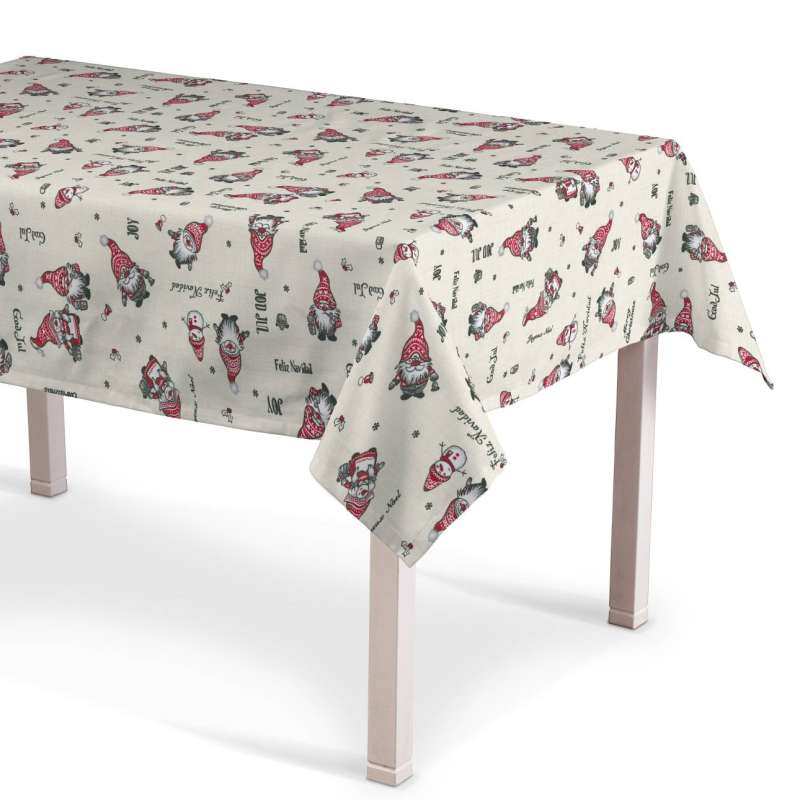 Rectangular tablecloth in collection Christmas, fabric: 629-28