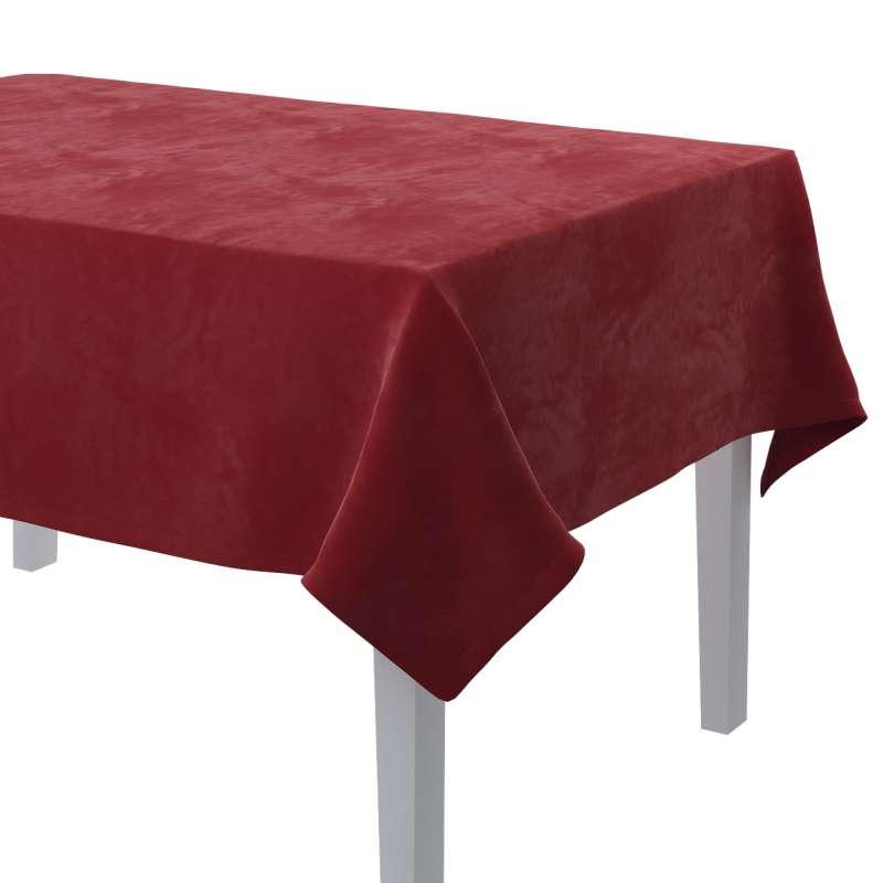 Rechteckige Tischdecke von der Kollektion Velvet, Stoff: 704-15