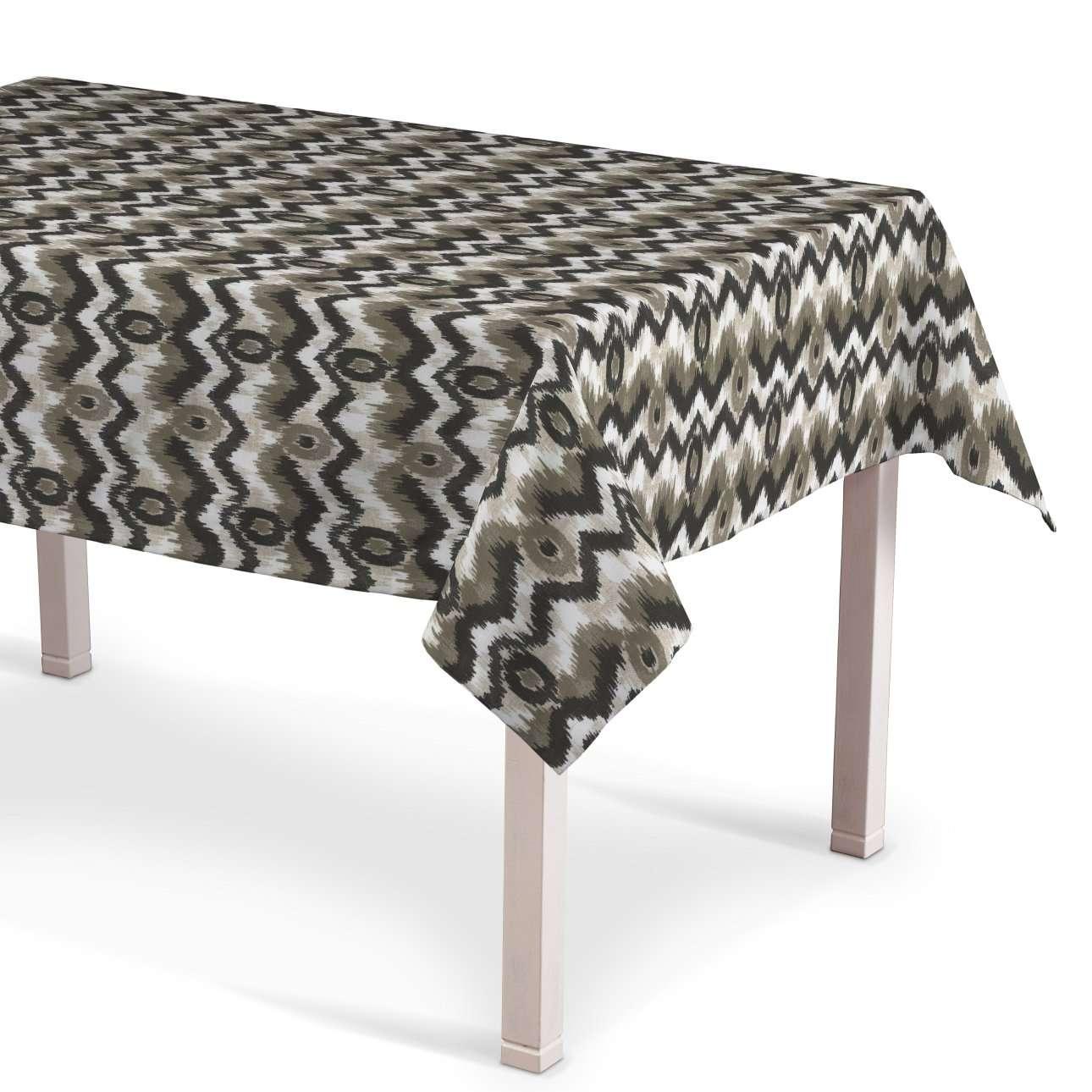 Rechteckige Tischdecke, schwarz-beige, 130 × 180 cm, Modern | Heimtextilien > Tischdecken und Co | Dekoria