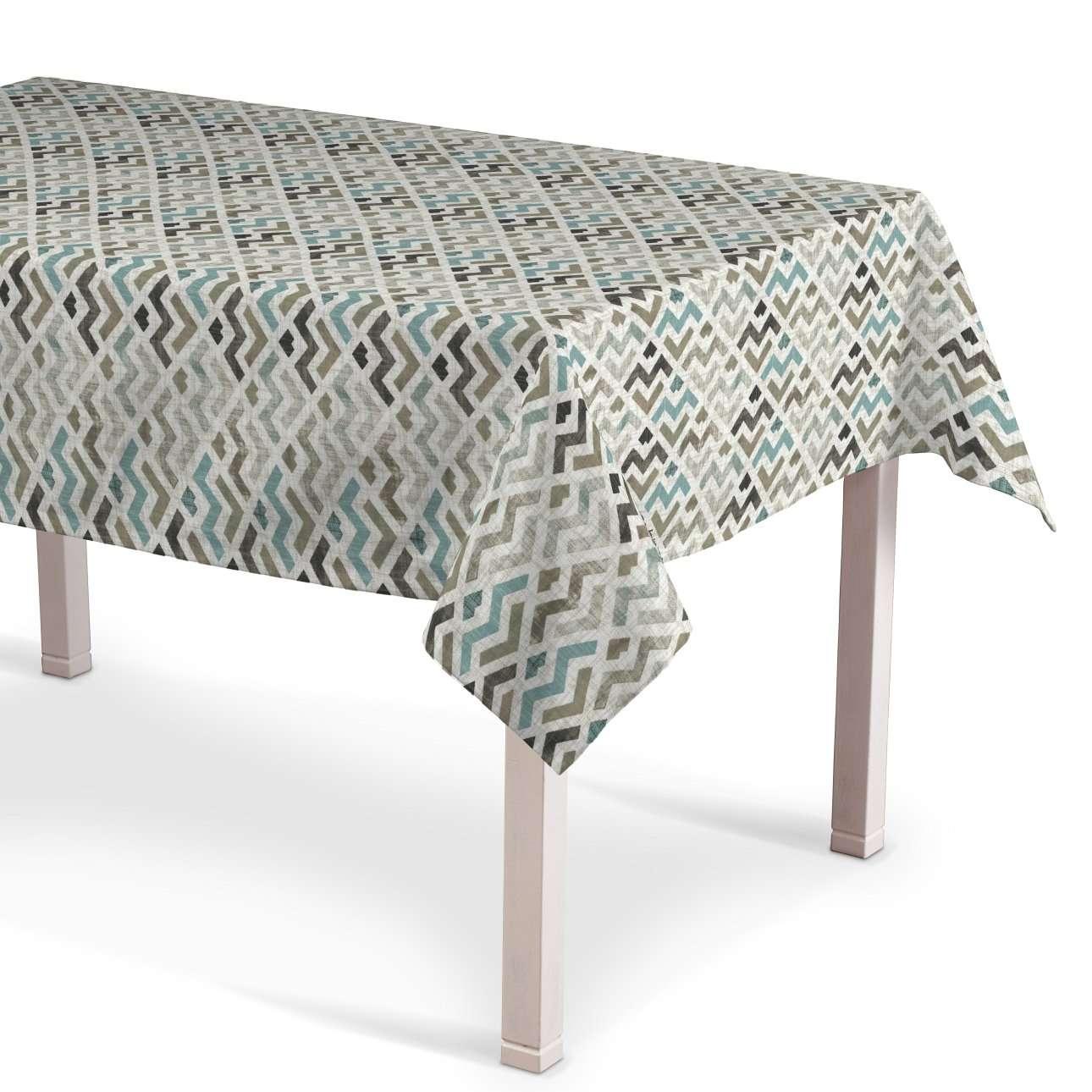 Rechteckige Tischdecke, blau-beige, 130 × 130 cm, Modern | Heimtextilien > Tischdecken und Co > Tischdecken | Muster | Stoff | Dekoria