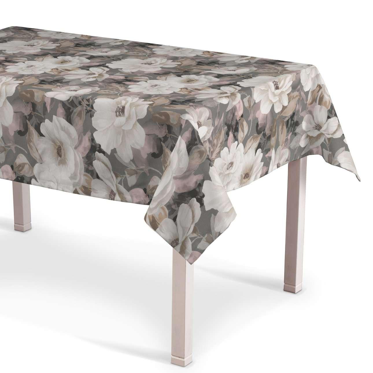 Rechteckige Tischdecke, grau-rosa, 130 × 250 cm, Gardenia | Heimtextilien > Tischdecken und Co > Tischdecken | Muster | Stoff | Dekoria
