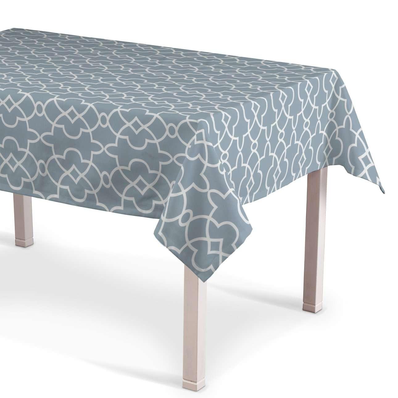 Rechteckige Tischdecke, blau-weiß, 130 × 210 cm, Gardenia | Heimtextilien > Tischdecken und Co > Tischdecken | Dekoria