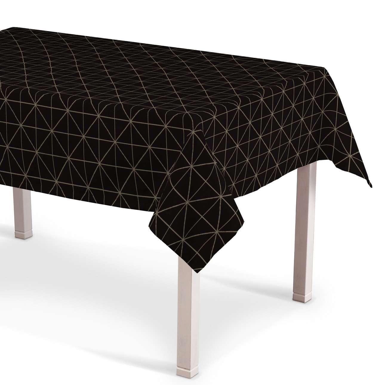 Rektangulær bordduk fra kolleksjonen Black & White, Stoffets bredde: 142-55