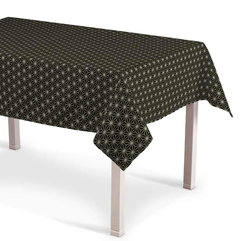 Rechthoekig tafelkleed van de collectie Black & White, Stof: 142-56