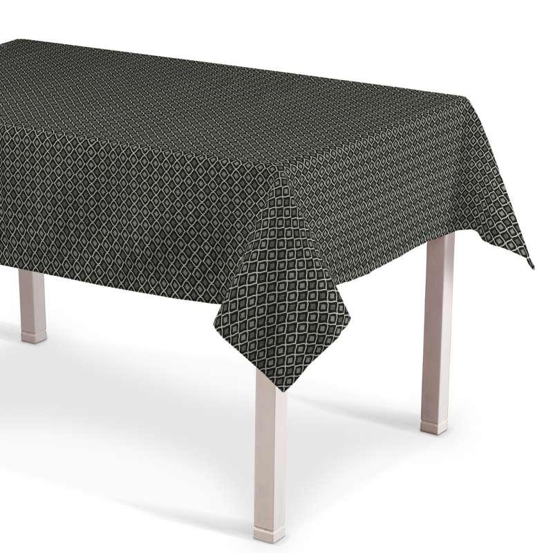 Rektangulär bordsduk  i kollektionen Black & White, Tyg: 142-86