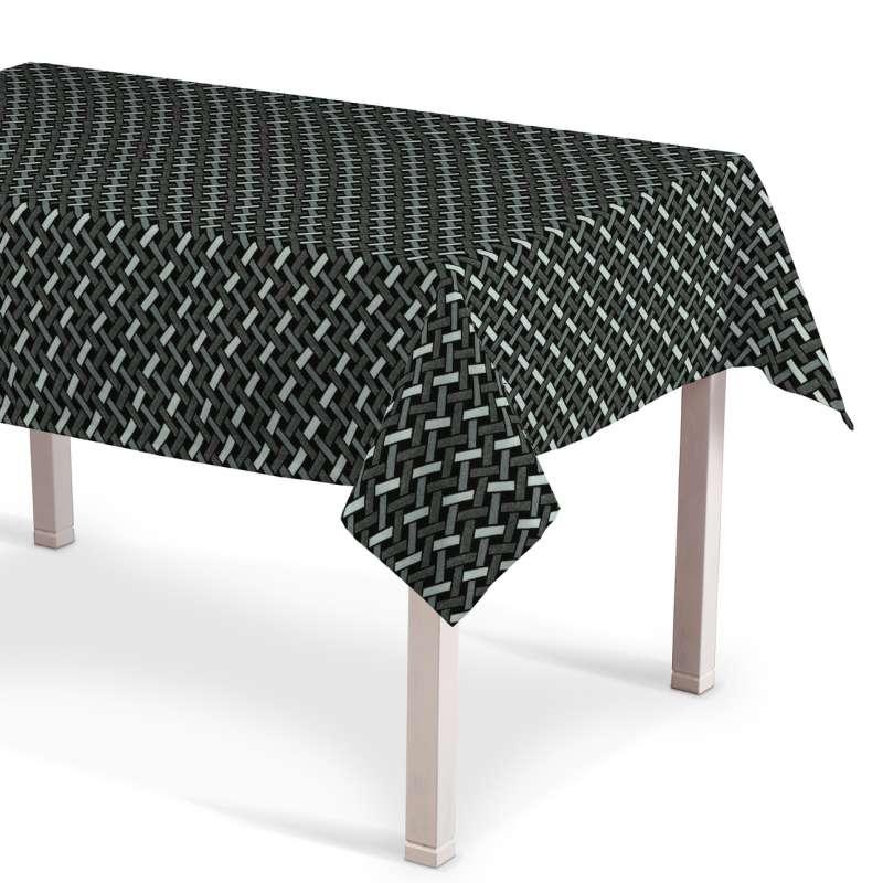 Rektangulär bordsduk i kollektionen Black & White, Tyg: 142-87