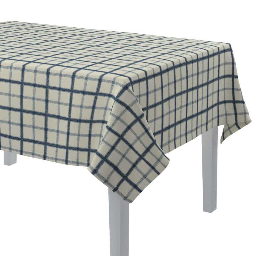 rechteckige tischdecke creme blau 130 x 130 cm dekoria. Black Bedroom Furniture Sets. Home Design Ideas