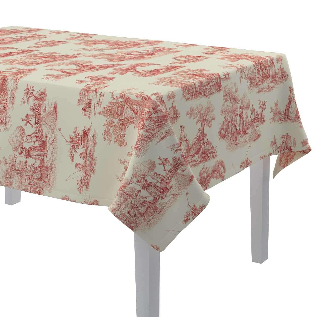 Rechthoekig tafelkleed 130 × 130 cm van de collectie Avinon, Stof: 132-15