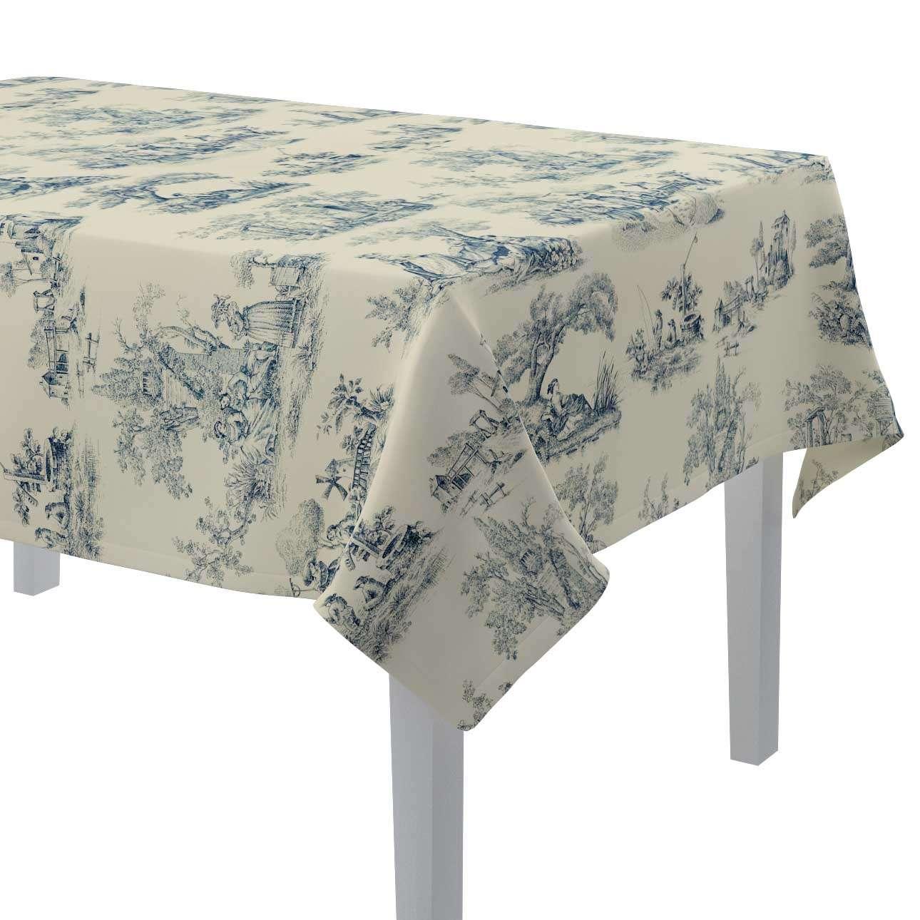 Rektangulær bordduk 130 × 130 cm fra kolleksjonen Avinon, Stoffets bredde: 132-66