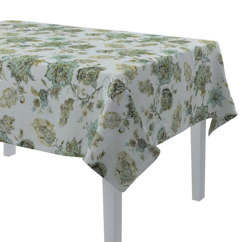 Rectangular tablecloth in collection Flowers, fabric: 143-67