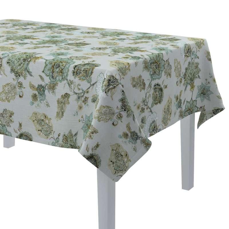 Rektangulær bordduk fra kolleksjonen Flowers, Stoffets bredde: 143-67