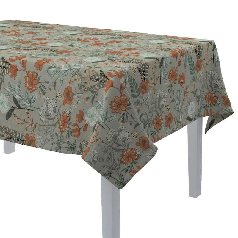 Rektangulær bordduk fra kolleksjonen Flowers, Stoffets bredde: 143-70