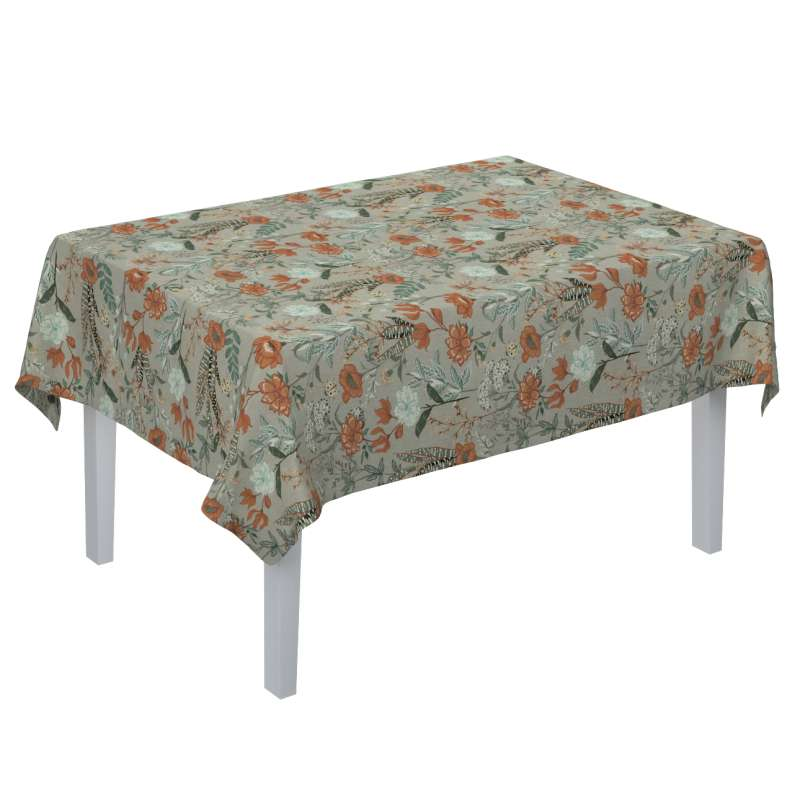 Rectangular tablecloth in collection Flowers, fabric: 143-70