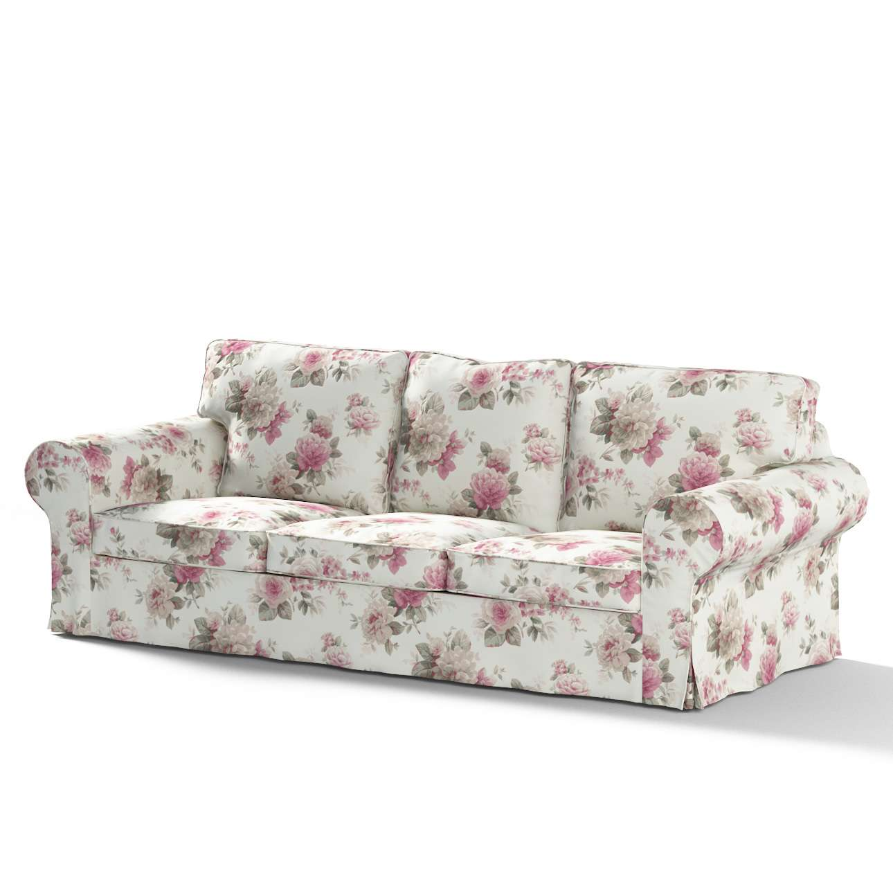 Ektorp 3 Seater Sofa Cover Pink And Beige Roses Ivory