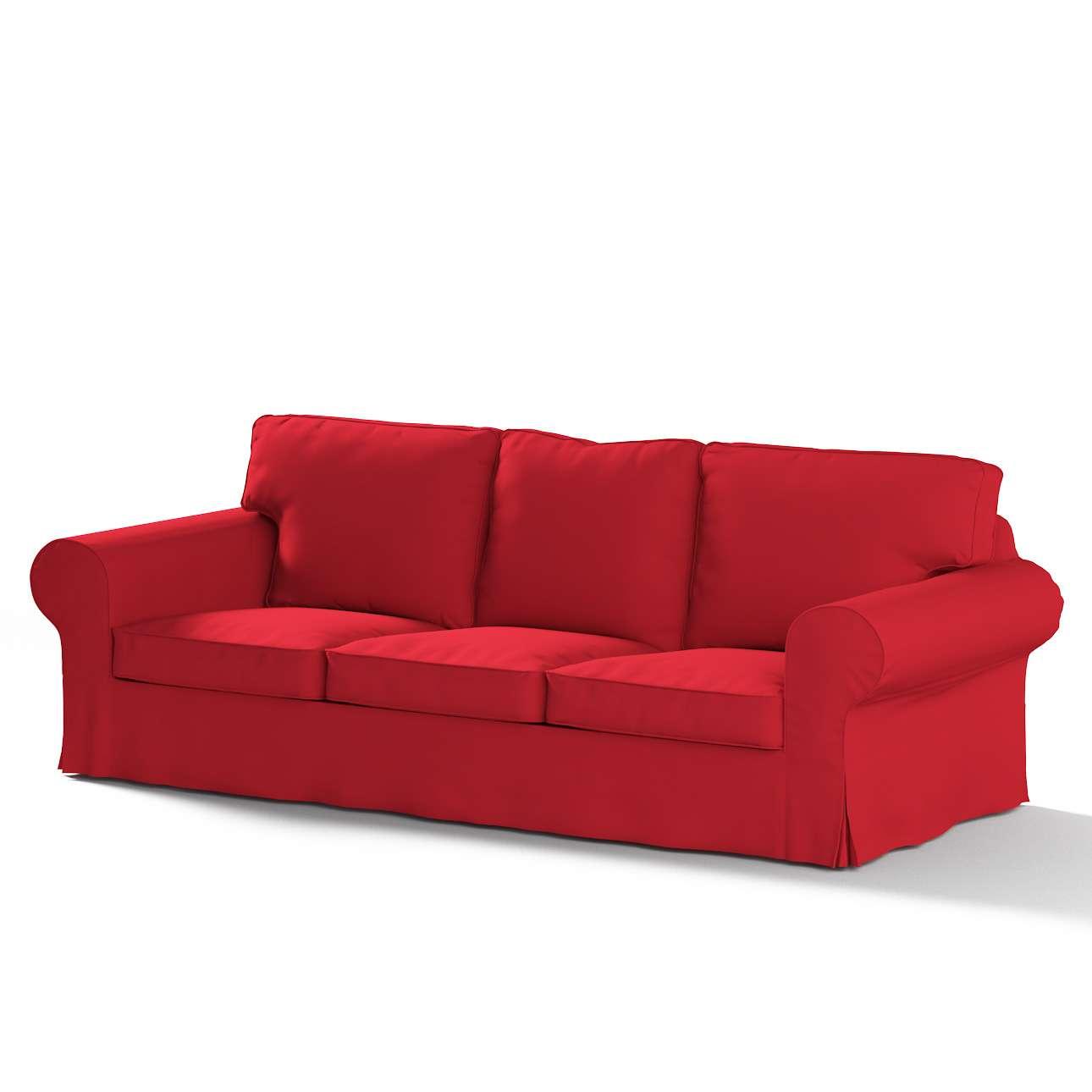Pokrowiec na sofę Ektorp 3-osobową, nierozkładaną w kolekcji Cotton Panama, tkanina: 702-04
