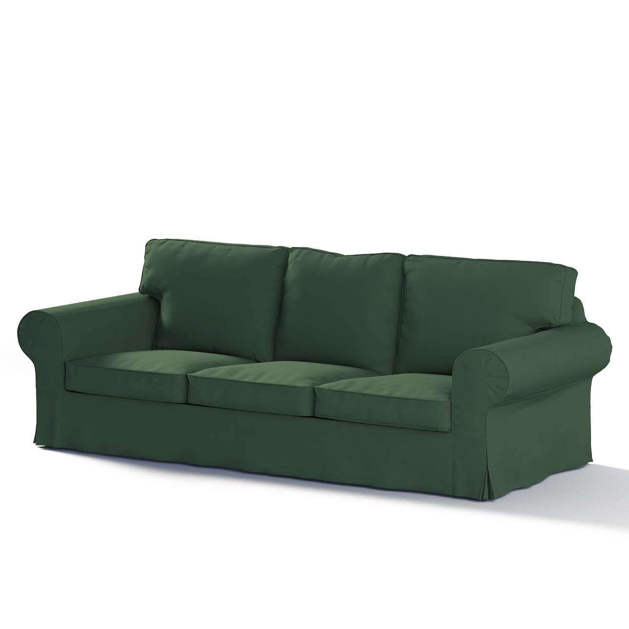 Pokrowiec na sofę Ektorp 3-osobową, nierozkładaną w kolekcji Cotton Panama, tkanina: 702-06