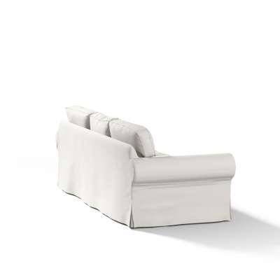 Pokrowiec na sofę Ektorp 3-osobową, nierozkładaną w kolekcji Cotton Panama, tkanina: 702-31