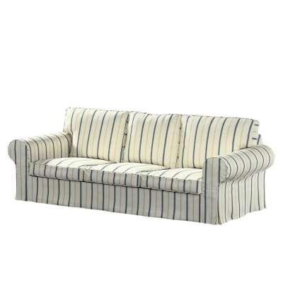 Ektorp 3-Sitzer Sofabezug nicht ausklappbar, creme- blau