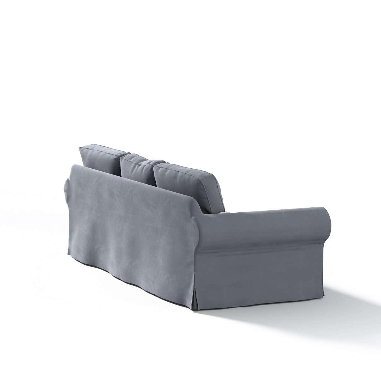 Pokrowiec na sofę Ektorp 3-osobową, nierozkładaną w kolekcji Velvet, tkanina: 704-12