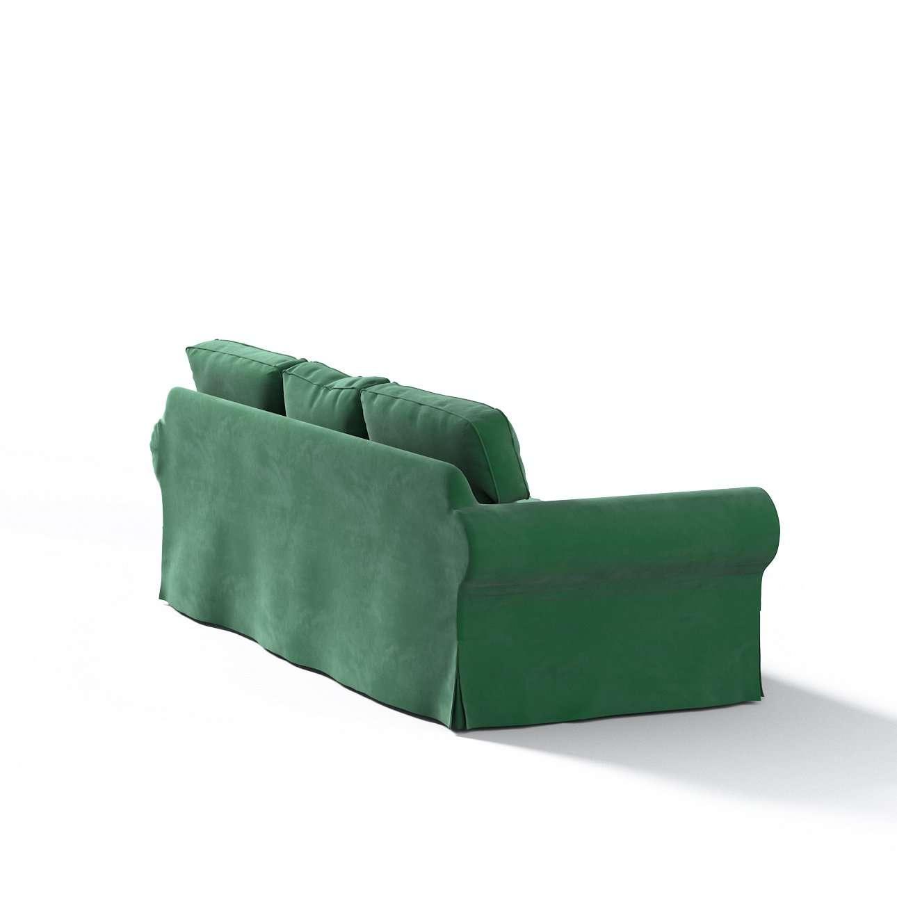 Pokrowiec na sofę Ektorp 3-osobową, nierozkładaną w kolekcji Velvet, tkanina: 704-13