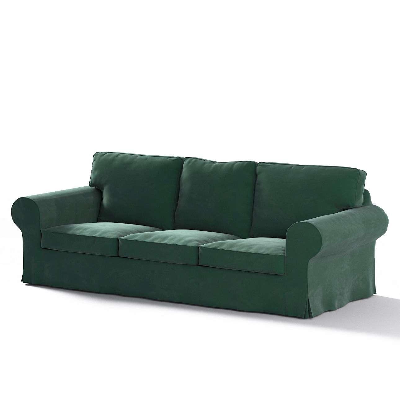 Pokrowiec na sofę Ektorp 3-osobową, nierozkładaną w kolekcji Velvet, tkanina: 704-25