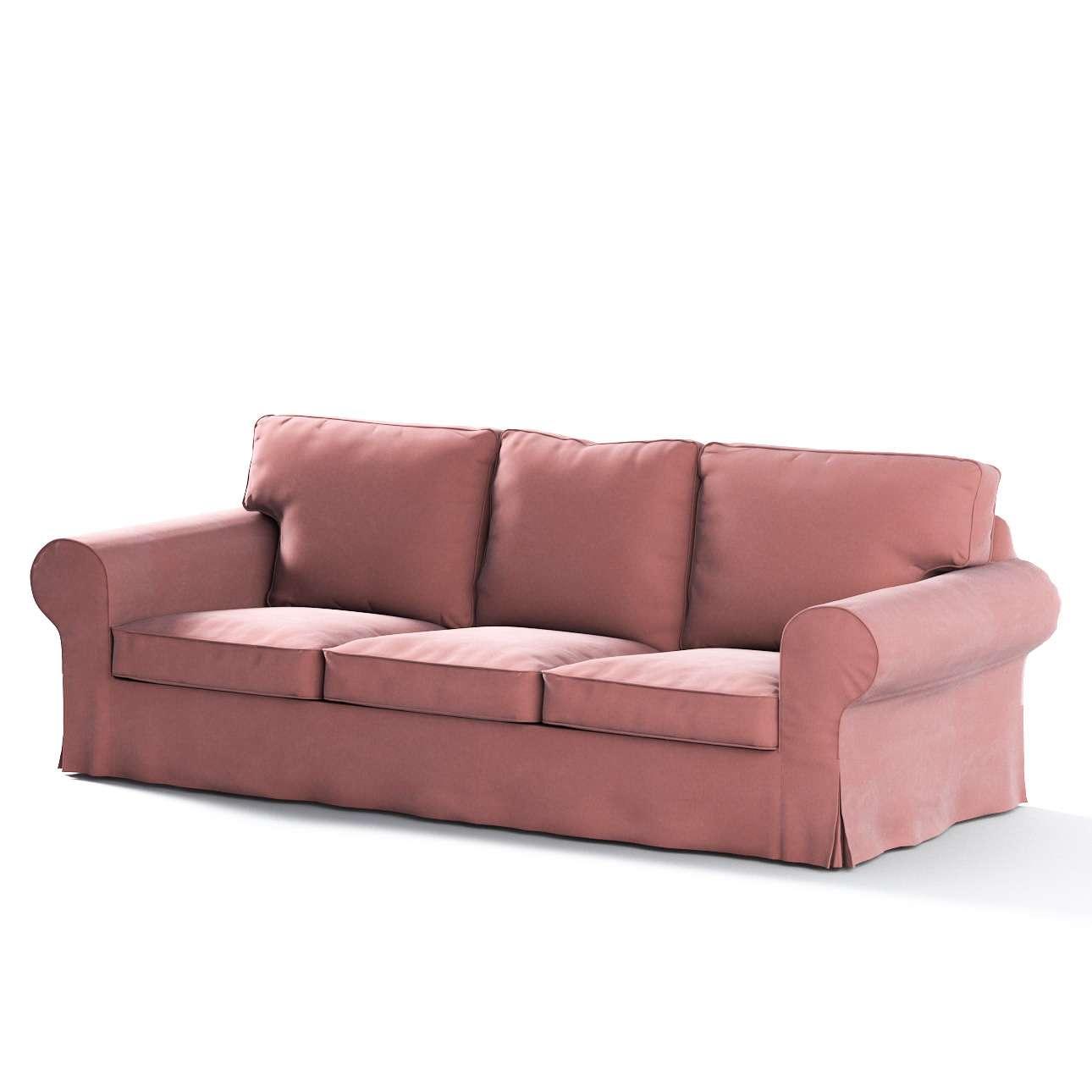 Pokrowiec na sofę Ektorp 3-osobową, nierozkładaną w kolekcji Velvet, tkanina: 704-30