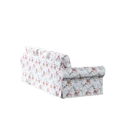 Pokrowiec na sofę Ektorp 3-osobową, nierozkładaną 704-50 różowe kwiaty na kremowym tle Kolekcja Velvet