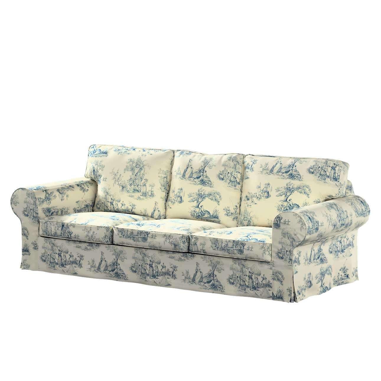 Pokrowiec na sofę Ektorp 3-osobową, nierozkładaną w kolekcji Avinon, tkanina: 132-66