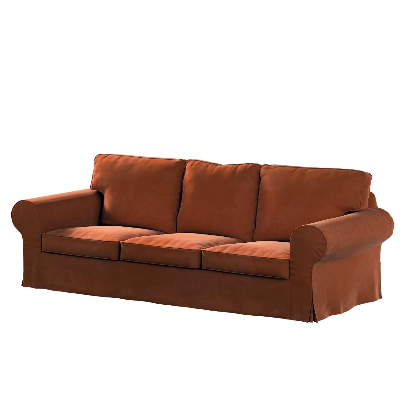 Pokrowiec na sofę Ektorp 3-osobową, nierozkładaną w kolekcji Velvet, tkanina: 704-33