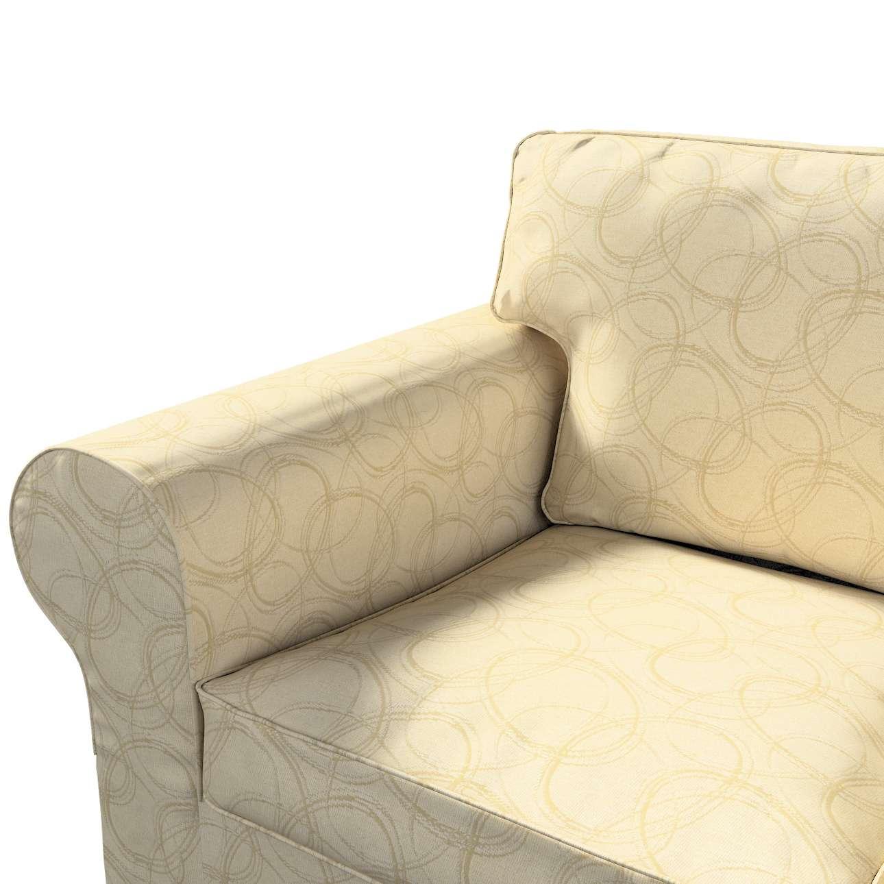 Pokrowiec na sofę Ektorp 3-osobową, nierozkładaną w kolekcji Living, tkanina: 161-81
