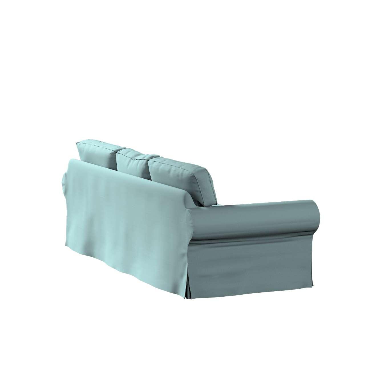 Pokrowiec na sofę Ektorp 3-osobową, nierozkładaną w kolekcji Cotton Panama, tkanina: 702-40