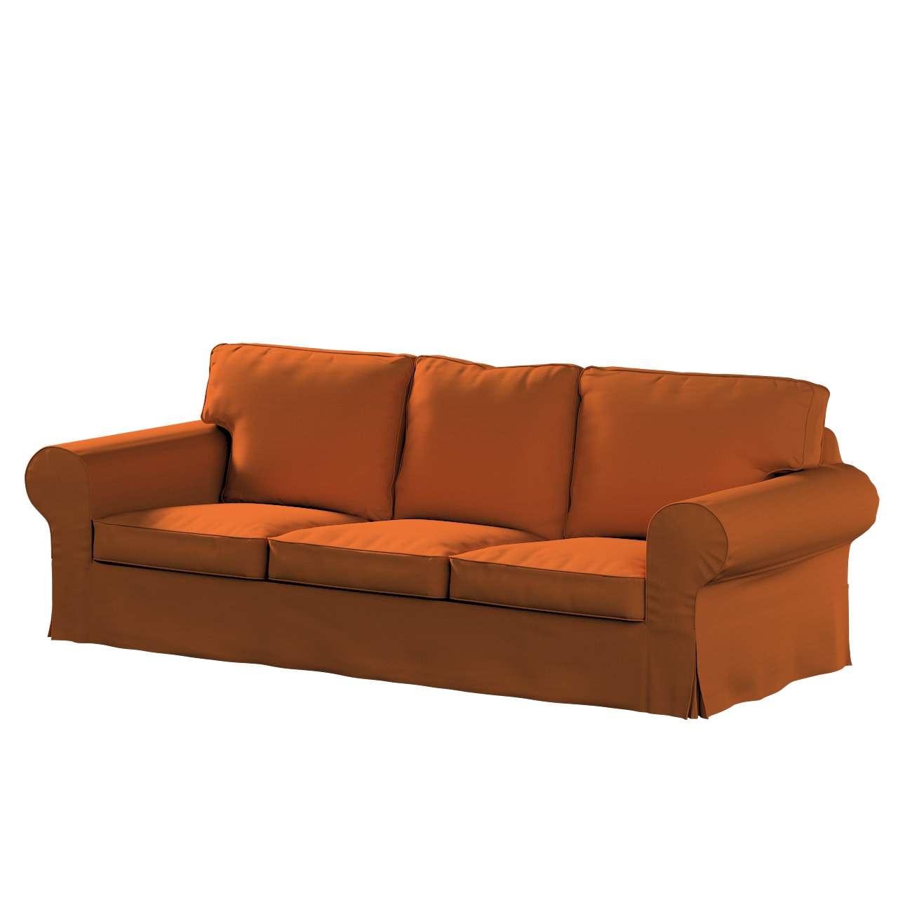 Pokrowiec na sofę Ektorp 3-osobową, nierozkładaną w kolekcji Cotton Panama, tkanina: 702-42