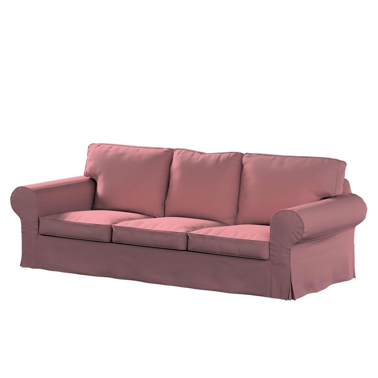 Pokrowiec na sofę Ektorp 3-osobową, nierozkładaną w kolekcji Cotton Panama, tkanina: 702-43